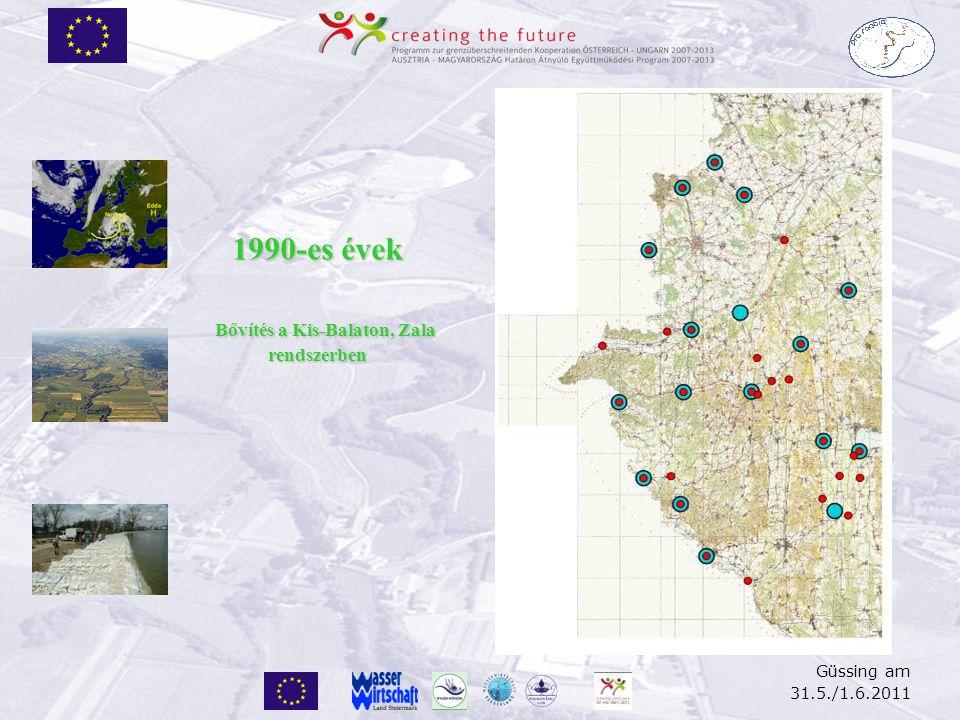 Güssing am 31.5./1.6.2011 Jelenlegi állapot A térképen csak a Rába árvízi előrejelző modell számára szükséges állomásokat tüntettük fel.