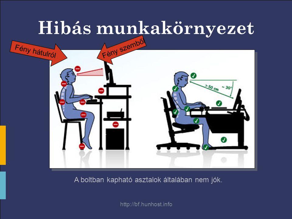 http://bf.hunhost.info Hibás munkakörnyezet A boltban kapható asztalok általában nem jók.