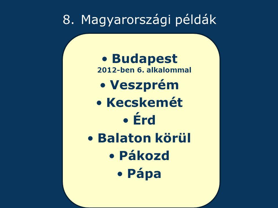 8. Magyarországi példák Budapest 2012-ben 6.