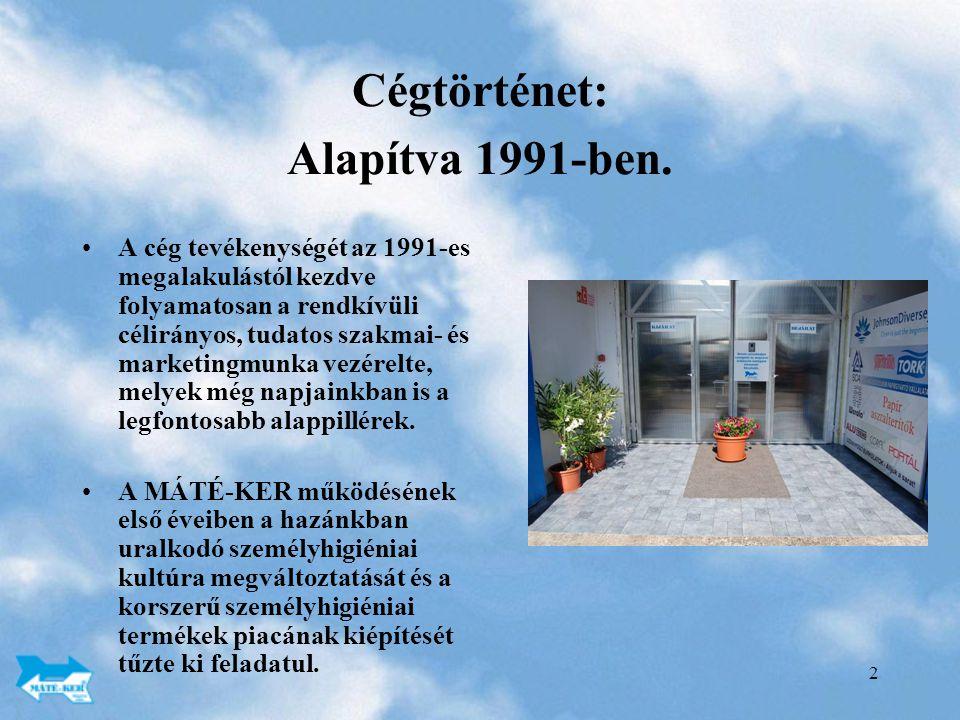 2 Cégtörténet: Alapítva 1991-ben.