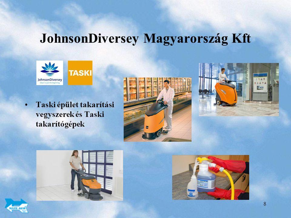 8 JohnsonDiversey Magyarország Kft Taski épület takarítási vegyszerek és Taski takarítógépek