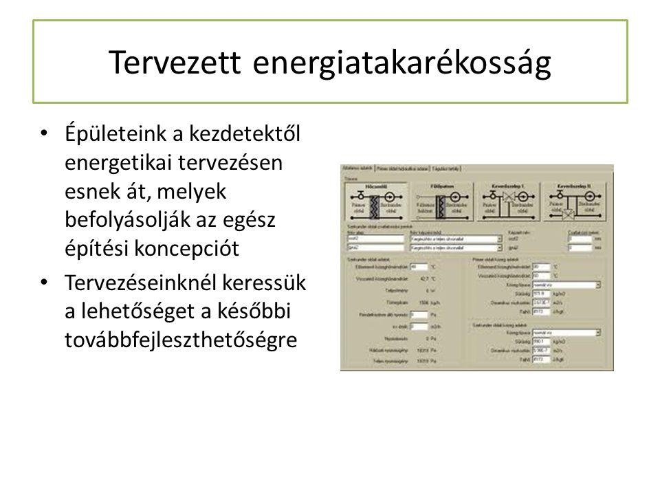 Tervezett energiatakarékosság Épületeink a kezdetektől energetikai tervezésen esnek át, melyek befolyásolják az egész építési koncepciót Tervezéseinkn