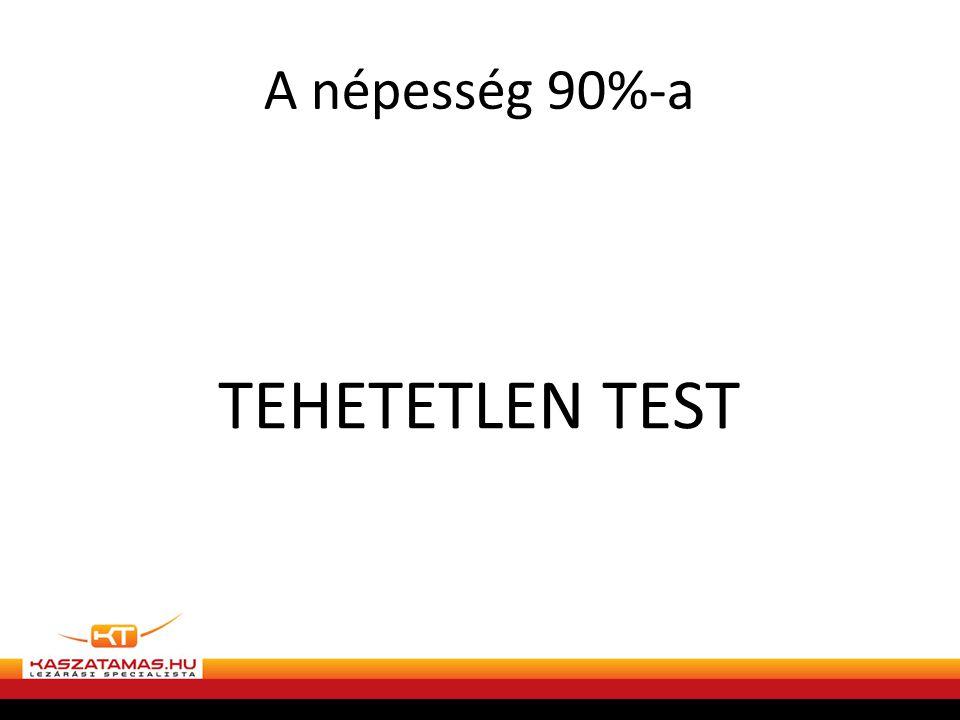 A népesség 90%-a TEHETETLEN TEST