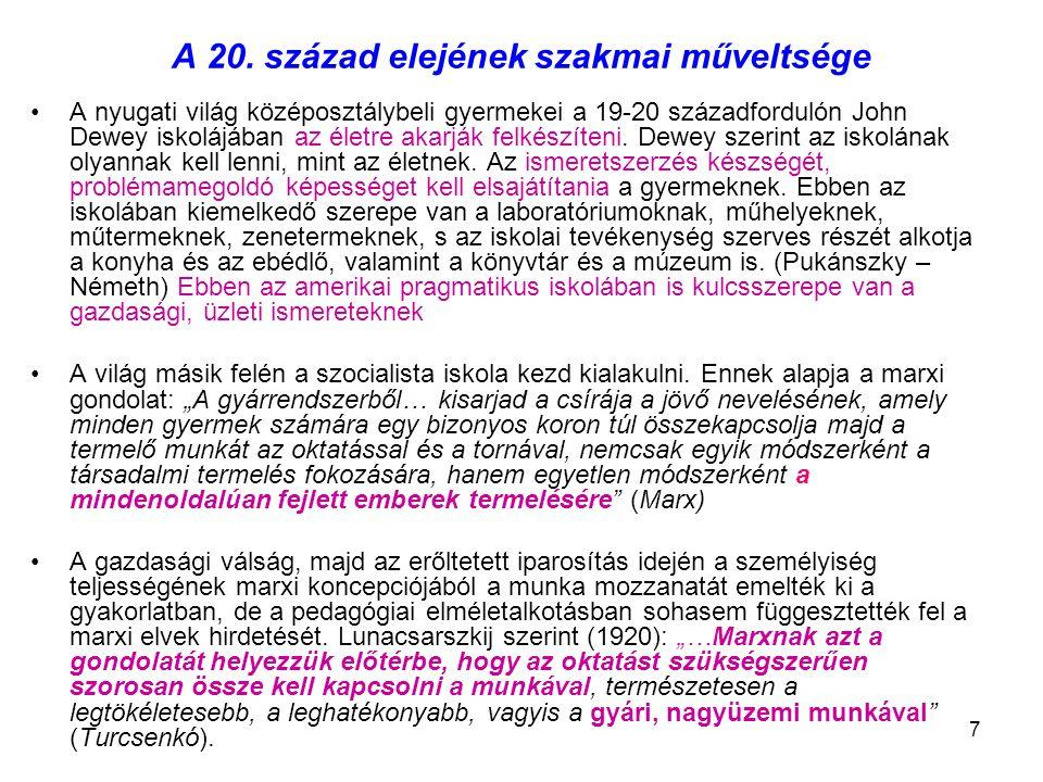 18 A szubsztanciális tudás felől a proceduális tudás felé Igaza van-e Rimlernek.