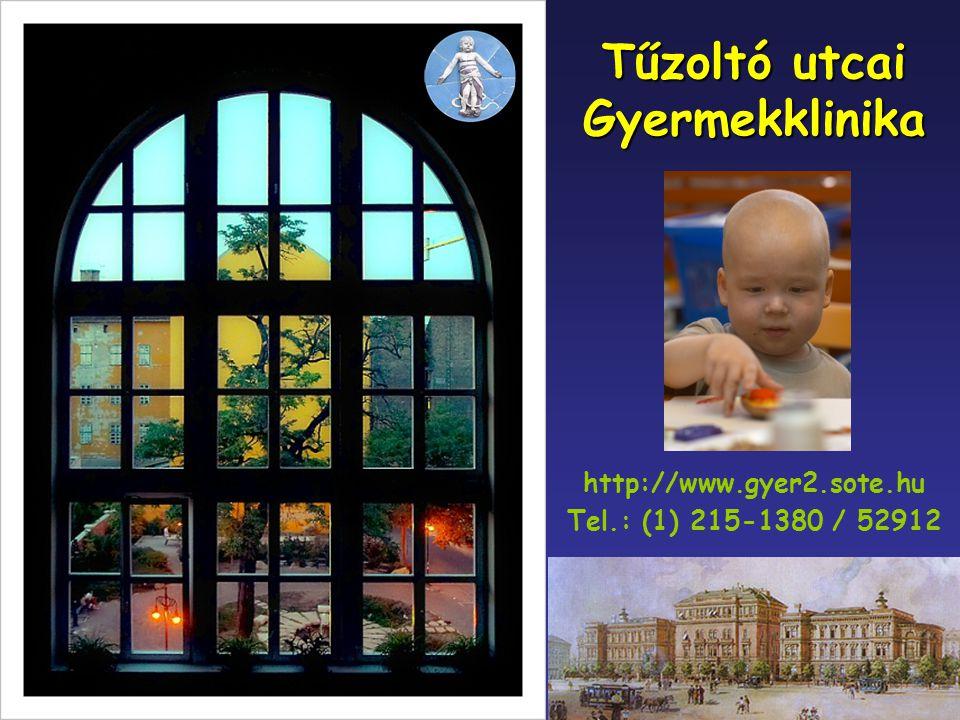 Tűzoltó utcai Gyermekklinika http://www.gyer2.sote.hu Tel.: (1) 215-1380 / 52912