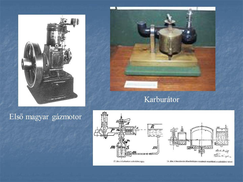 Első magyar gázmotor Karburátor