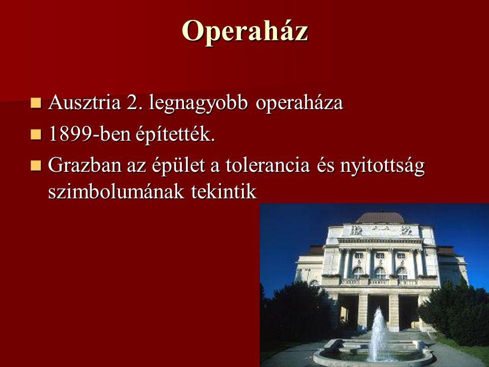 Operaház Ausztria 2.legnagyobb operaháza Ausztria 2.