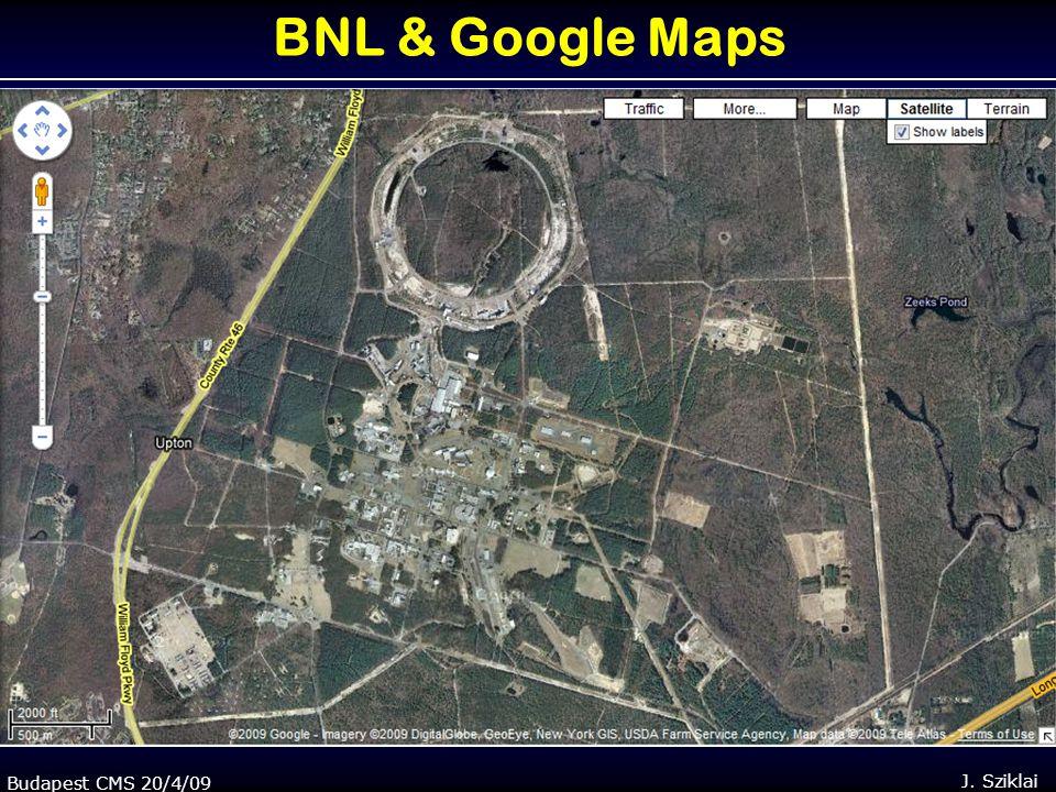 Budapest CMS 20/4/09J. Sziklai BNL & Google Maps