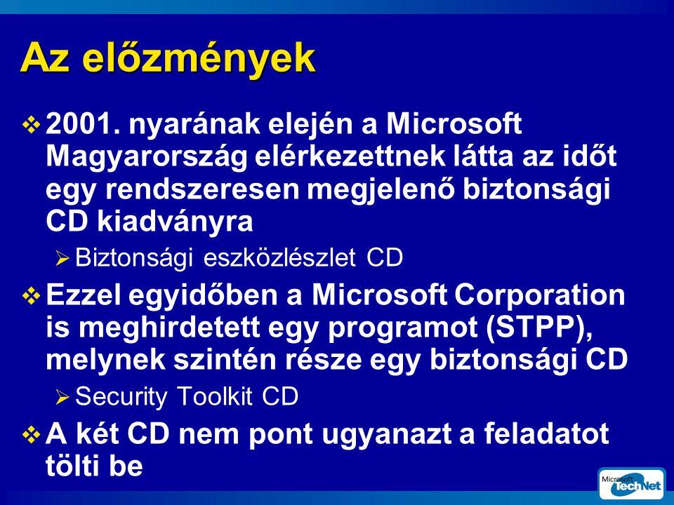 Az előzmények  2001.