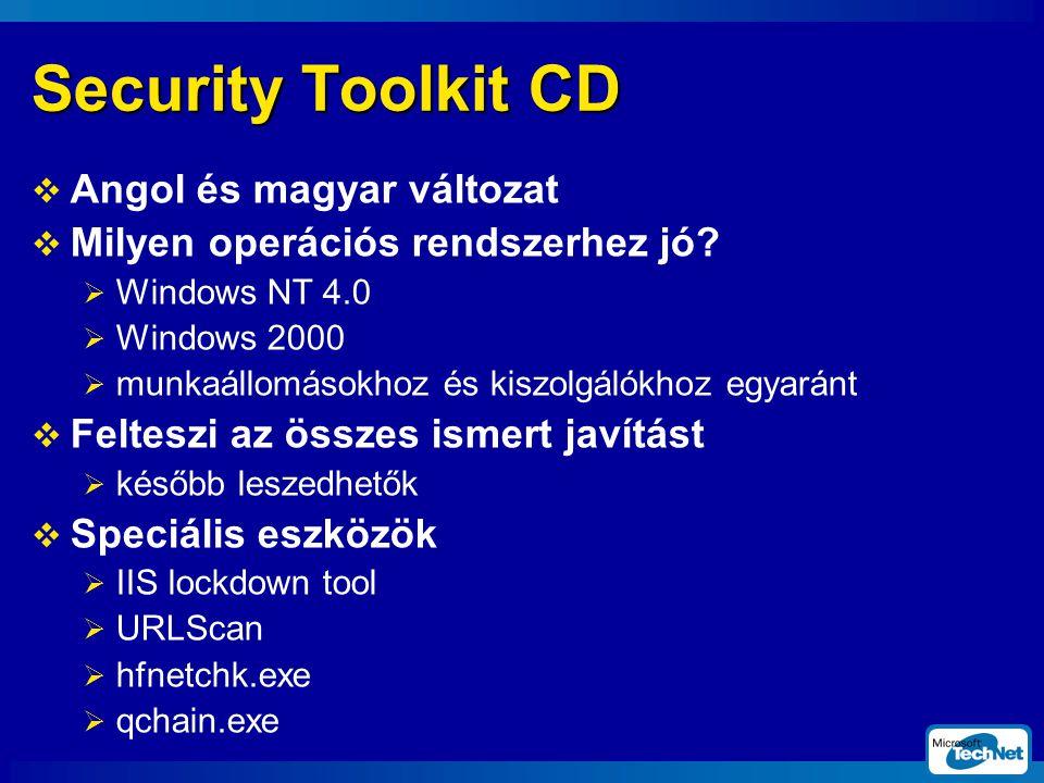 Security Toolkit CD  Angol és magyar változat  Milyen operációs rendszerhez jó.