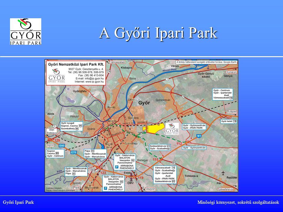 Győri Ipari Park Minőségi környezet, sokrétű szolgáltatások Foglalkoztatottak száma