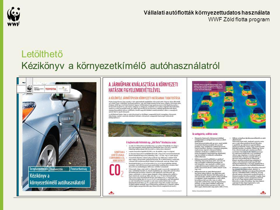 Letölthető Kézikönyv a környezetkímélő autóhasználatról Vállalati autóflották környezettudatos használata WWF Zöld flotta program