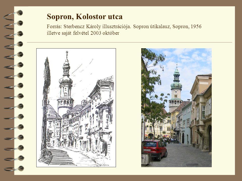 Sopron, Kolostor utca Forrás: Sterbencz Károly illusztrációja.