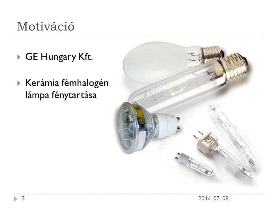 Kerámia fémhalogén lámpa Nagynyomású kisülőlámpa Fényhasznosítás (80-120 lm/W) Színvisszaadási index (65-90 Ra) 2014.