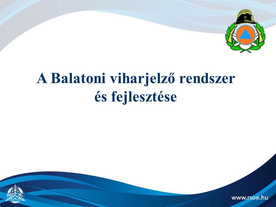 www.rsoe.hu Tájékoztatás strandok és hatóság közötti hatékony kommunikáció strand és meteorológia közötti kapcsolat a viharjelzés kapcsán Trönkölt Rádiórendszer a Balatonon