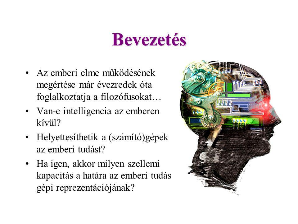 Mesterséges intelligencia Az intelligencia fogalmát nehéz definiálni, DE az intelligens viselkedés formáit felismerjük.