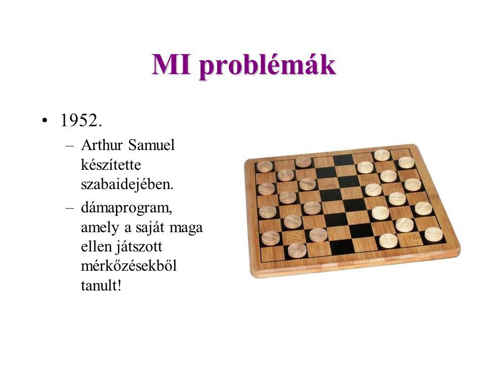MI problémák 1952.–Arthur Samuel készítette szabaidejében.