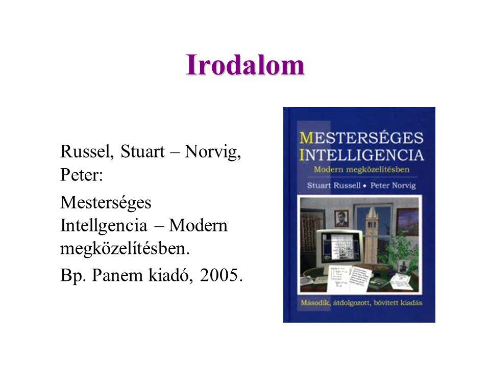 Irodalom Russel, Stuart – Norvig, Peter: Mesterséges Intellgencia – Modern megközelítésben.