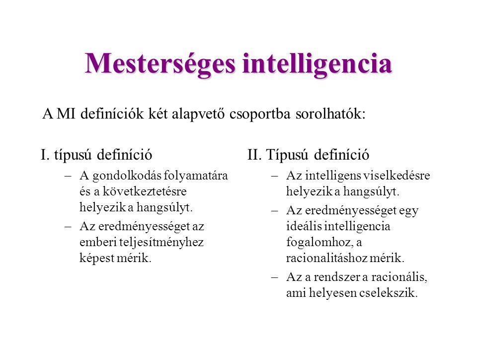 Mesterséges intelligencia I.