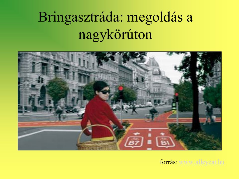 Bringasztráda: megoldás a nagykörúton forrás: www.alleycat.huwww.alleycat.hu