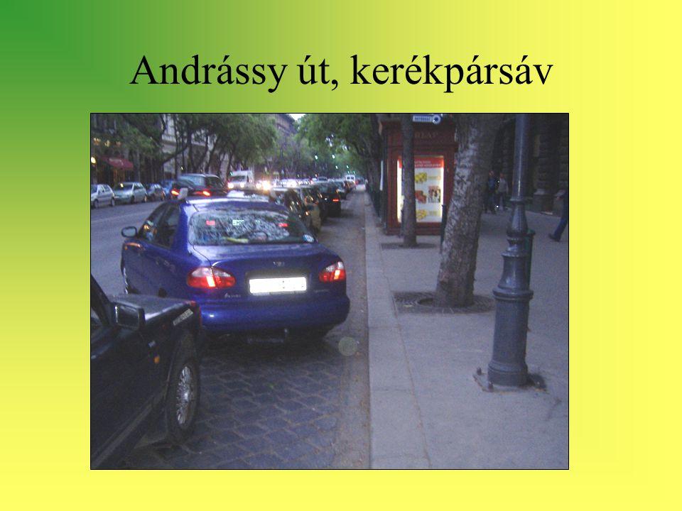 Andrássy út, kerékpársáv