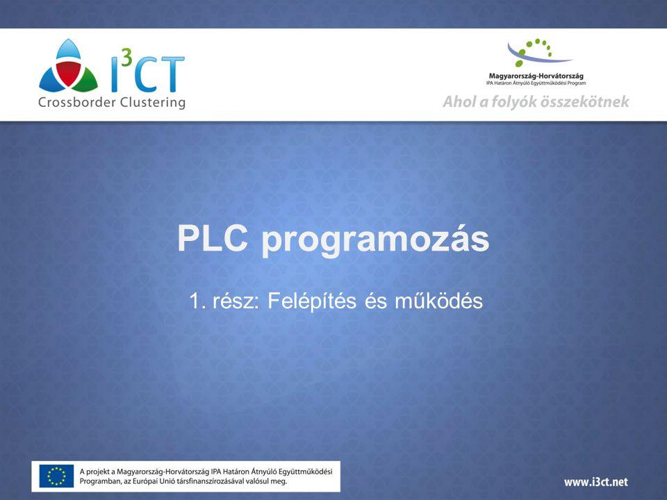 PLC működése  A bemenetek beolvasása. A felhasználói program végrehajtása.