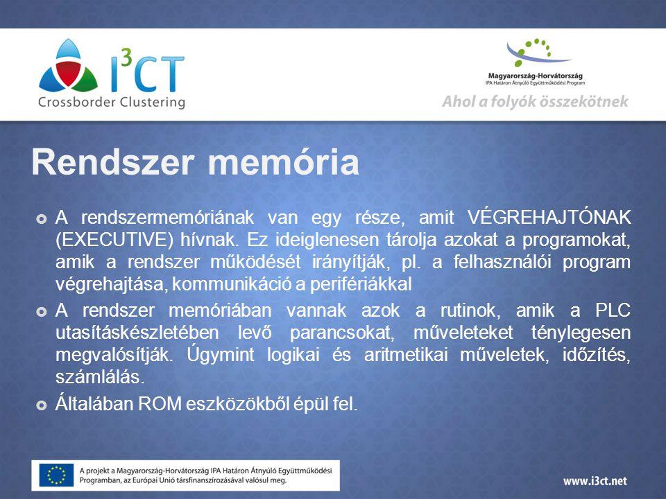 Rendszer memória  A rendszermemóriának van egy része, amit VÉGREHAJTÓNAK (EXECUTIVE) hívnak.
