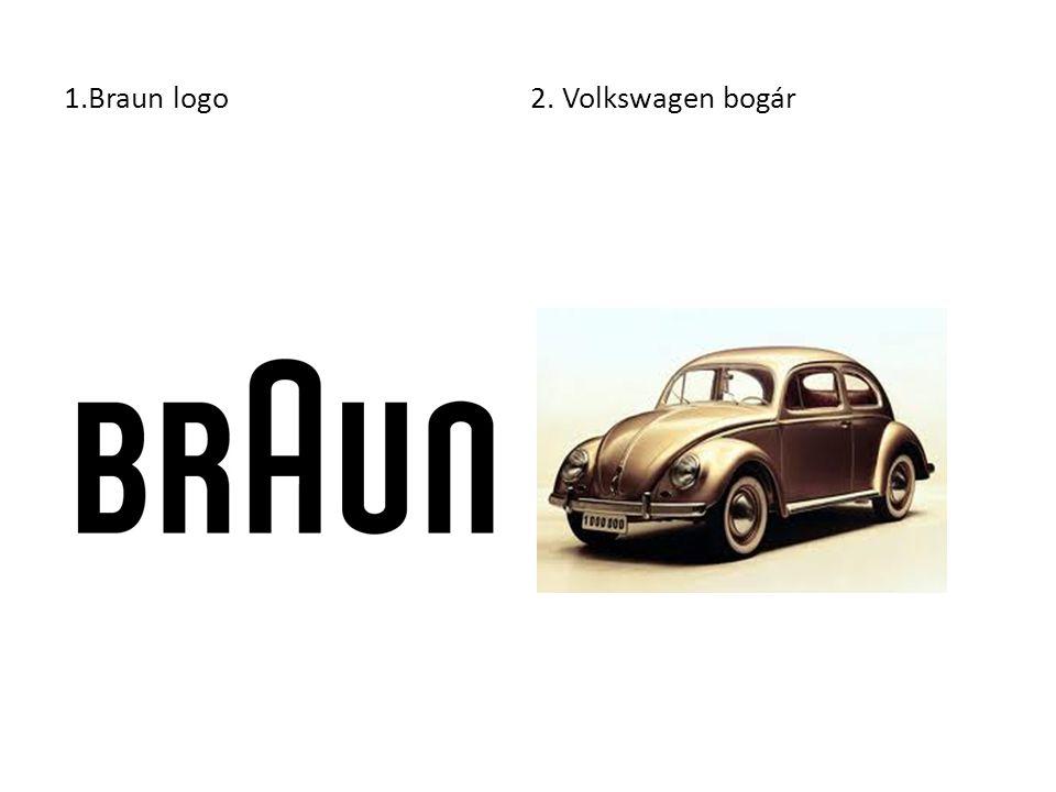 1.Braun logo 2. Volkswagen bogár