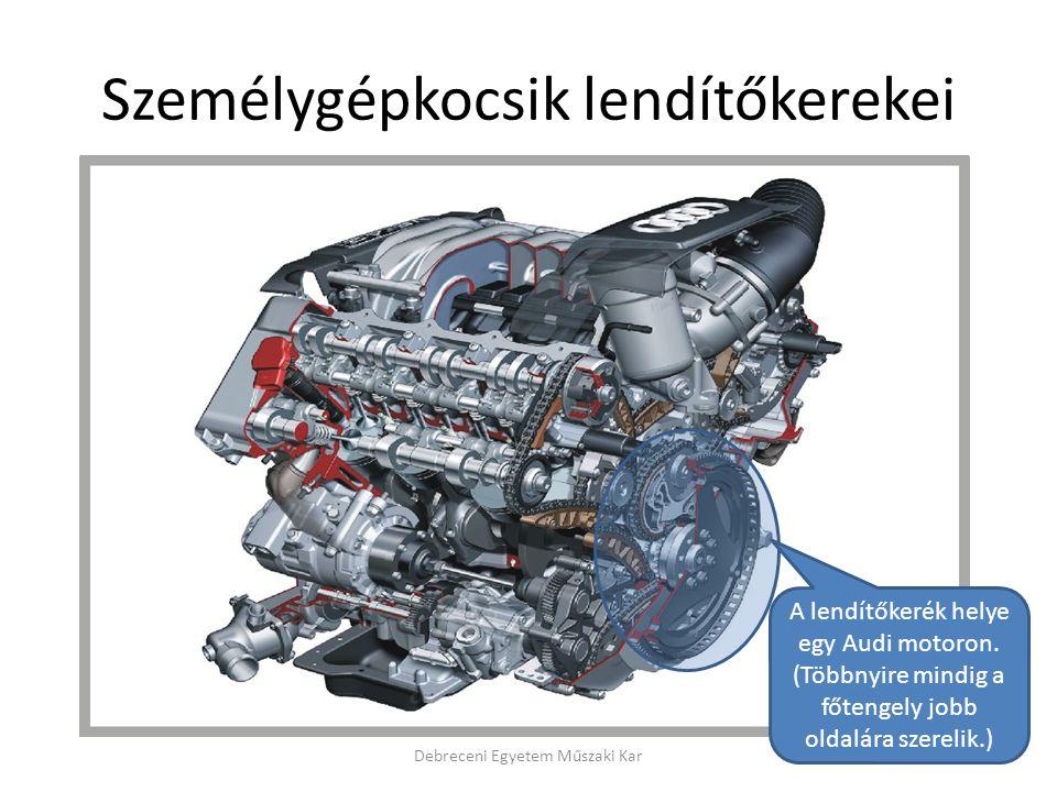 Személygépkocsik lendítőkerekei Debreceni Egyetem Műszaki Kar A lendítőkerék helye egy Audi motoron.