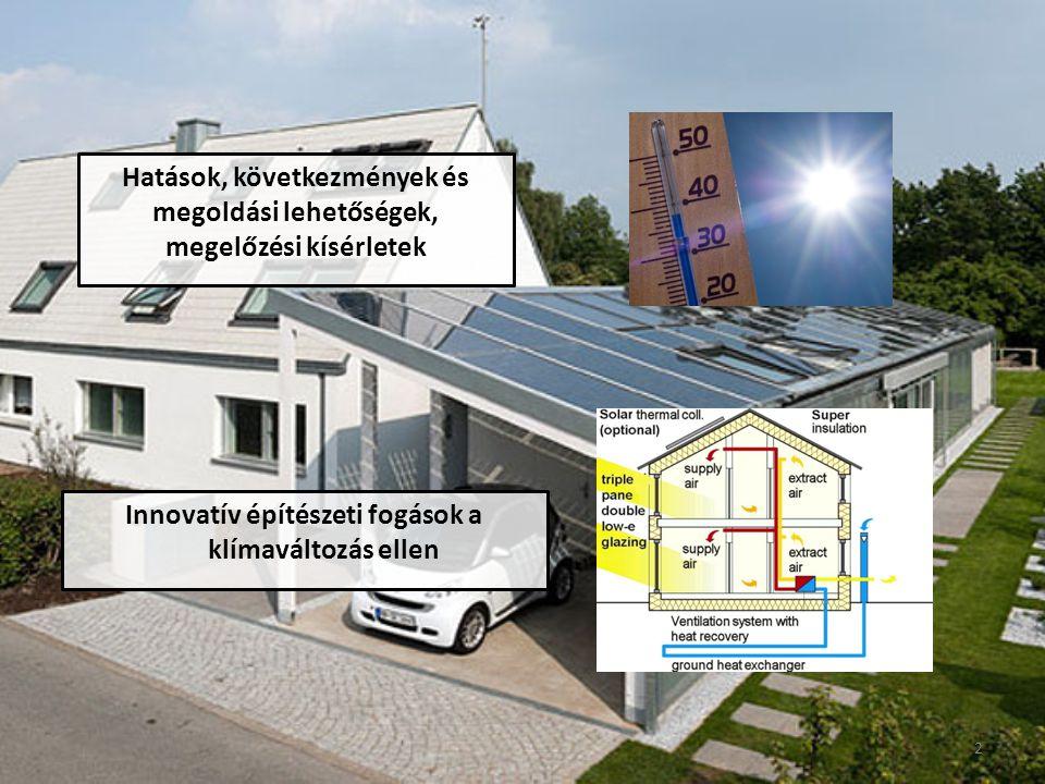Hatások, következmények és megoldási lehetőségek, megelőzési kísérletek Innovatív építészeti fogások a klímaváltozás ellen 2