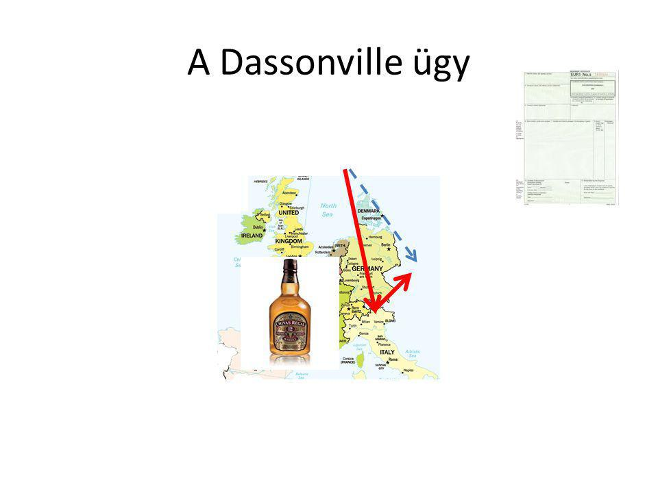 """A Dassonville formula Mennyiségi korlátozással azonos hatású intézkedés (MEQR) az olyan előírás, ami szerint egy tagállam olyan származási bizonyítvány megszerzését követeli meg, ami nehezebben hozzáférhető egy másik tagállamban forgalomban lévő, eredeti terméket importáló számára, mint annak, aki a terméket közvetlenül hozza be """"Minden olyan, tagállamok által alkotott, kereskedelemre vonatkozó szabály, amely alkalmas arra, hogy közvetlenül vagy közvetve, ténylegesen vagy eshetőlegesen akadályozza a Közösségen belüli kereskedelmet"""