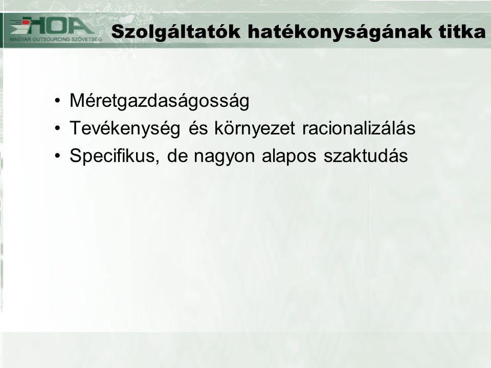 –Győr: szociális szolgáltatások (gyámhivatal), lakásgazdálkodás, honlap üzemeltetés, bérszámfejtés –Szeged: szoftverfejlesztés –Szekszárd: távhőszolgáltatás, úthálózat, közlekedési lámpák karbantartása, parkgondozás –Debrecen: gyermekétkeztetés, informatika.