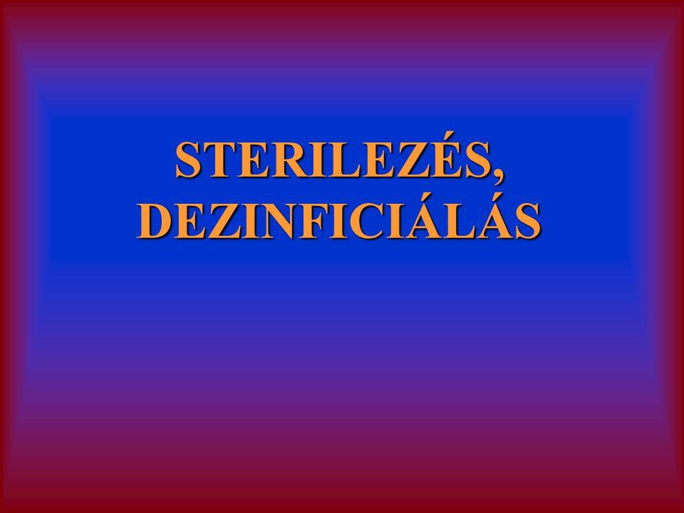 STERILEZÉS, DEZINFICIÁLÁS