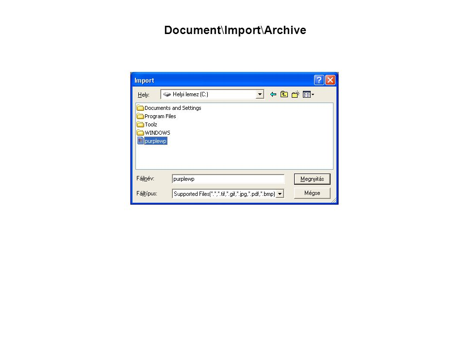 Document\Import\Archive