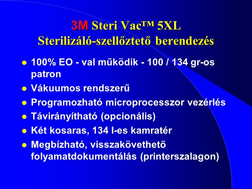 3M Steri Vac™ 5XL Sterilizáló-szellőztető berendezés l 100% EO - val működik - 100 / 134 gr-os patron l Vákuumos rendszerű l Programozható microproces