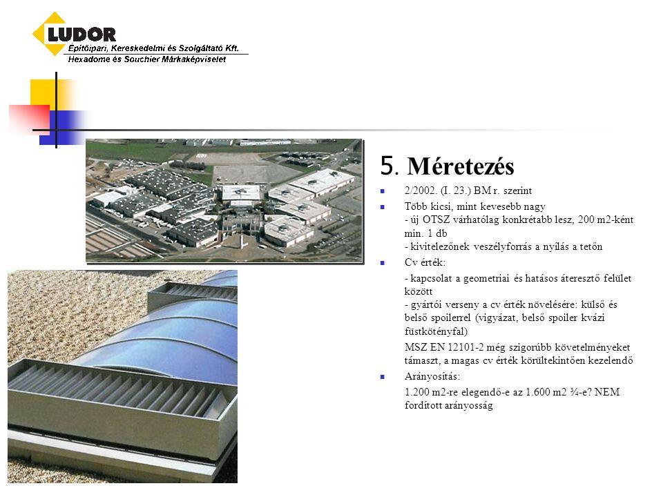 5.Méretezés 2/2002. (I. 23.) BM r.