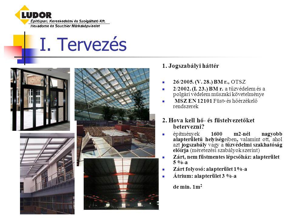 I.Tervezés 1. Jogszabályi háttér 26/2005. (V. 28.) BM r., OTSZ 2/2002.