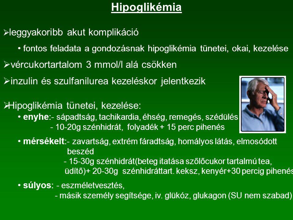 Inzulinkezelés  inzulinadagolás: subcutan injekció formában helyi hiperinzulinémiát okoz élettani viszonyokkal fordított - endogén: hasnyálmirigy  máj  szisztémás keringés - exogén: keringés  máj felszívódás függ betegtől, beadási helytől: - has bőre alá (felkar  gluteális táj  combtájék) - testhőmérséklet, izommunka, masszírozás, stb.