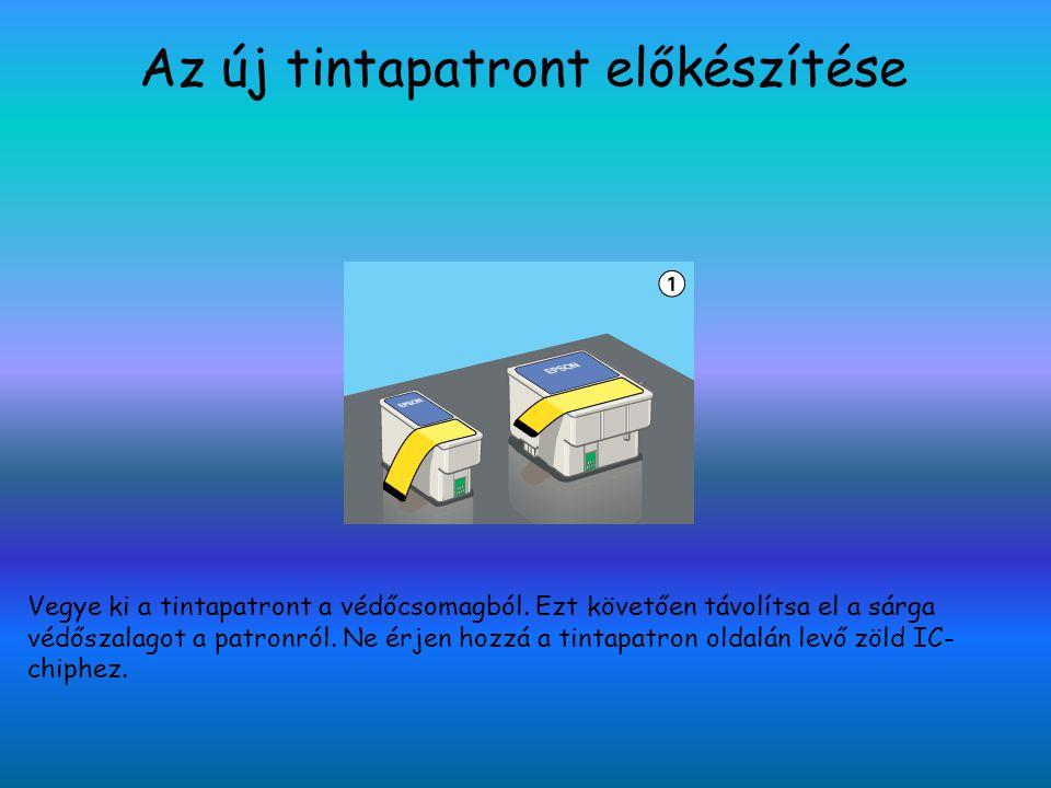 Az ú j tintapatront behelyezése 1 Tegye a tintapatront a helyére, majd csukja be a tintapatron rögzítőfüleit.
