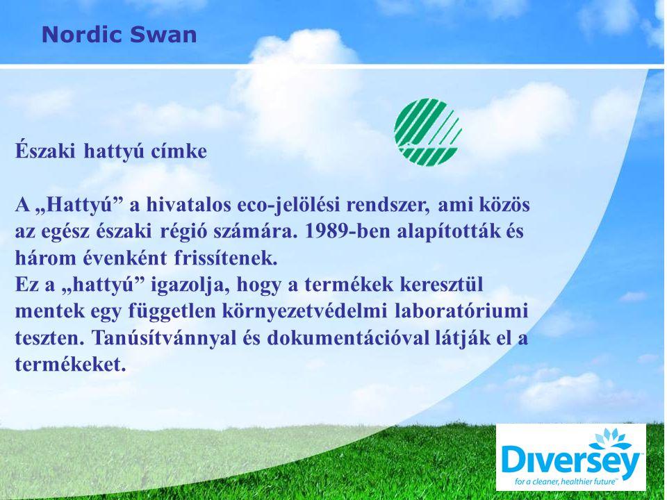 """Nordic Swan Északi hattyú címke A """"Hattyú a hivatalos eco-jelölési rendszer, ami közös az egész északi régió számára."""