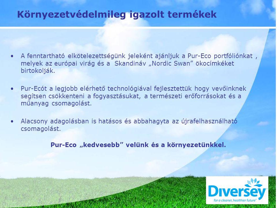 """Környezetvédelmileg igazolt termékek A fenntartható elkötelezettségünk jeleként ajánljuk a Pur-Eco portfóliónkat, melyek az európai virág és a Skandináv """"Nordic Swan ökocímkéket birtokolják."""