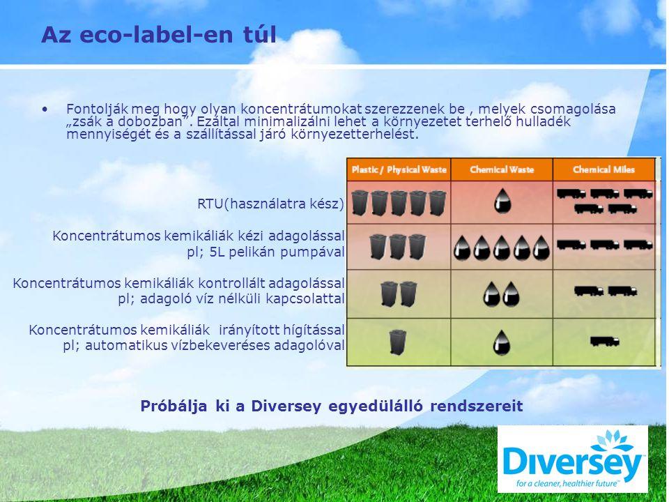 """Az eco-label-en túl Fontolják meg hogy olyan koncentrátumokat szerezzenek be, melyek csomagolása """"zsák a dobozban ."""