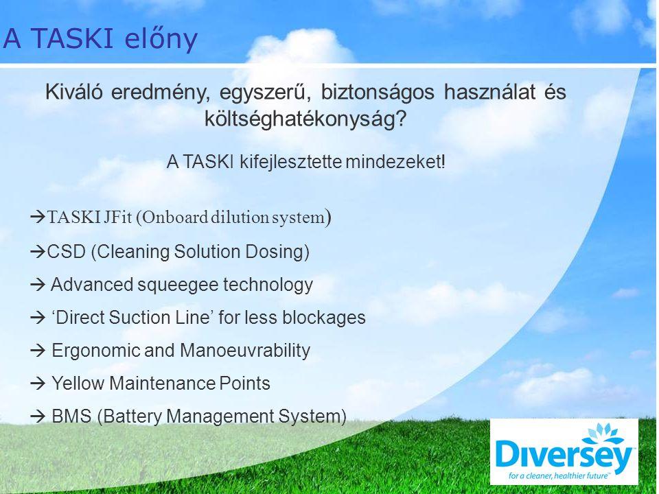 Kiváló eredmény, egyszerű, biztonságos használat és költséghatékonyság.