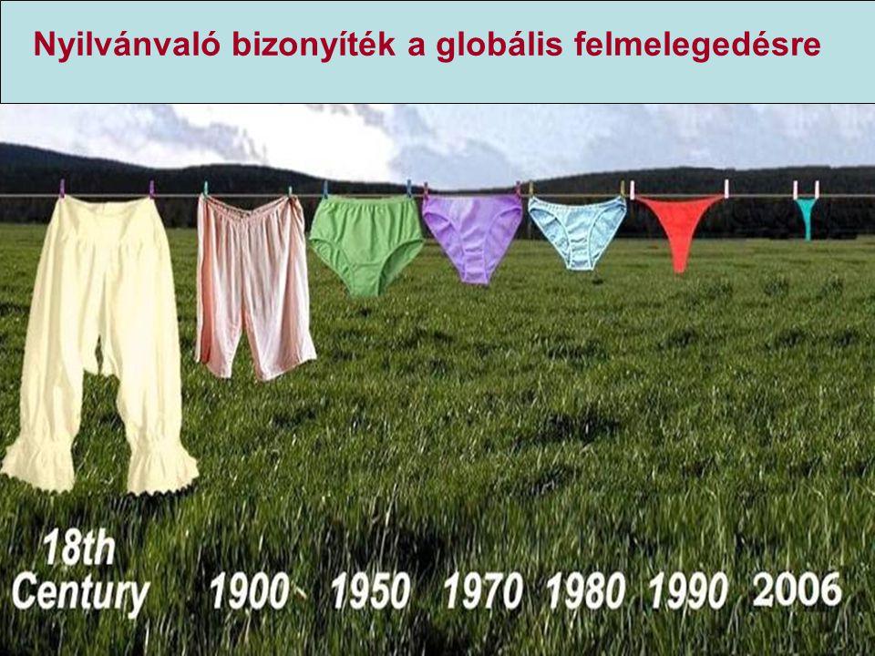 Nyilvánvaló bizonyíték a globális felmelegedésre