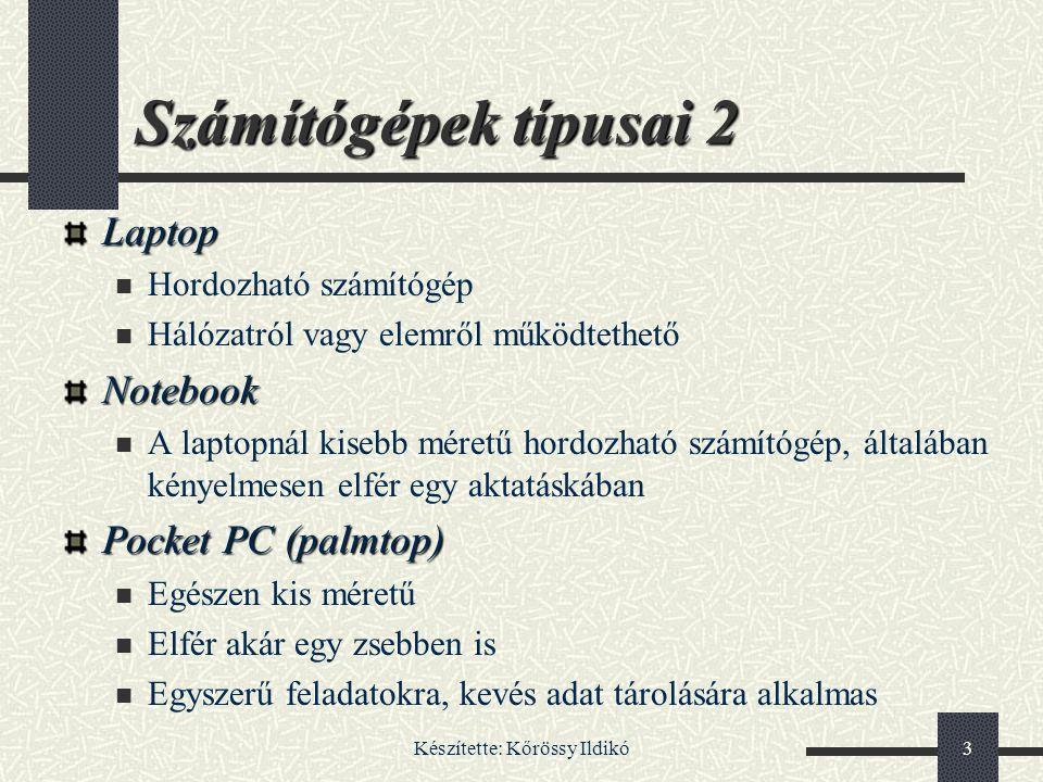 Készítette: Kőrössy Ildikó84 Vonalkód olvasó 1 Tárgyak beazonosítására használják boltokban, patikákban, könyvtárakban stb.