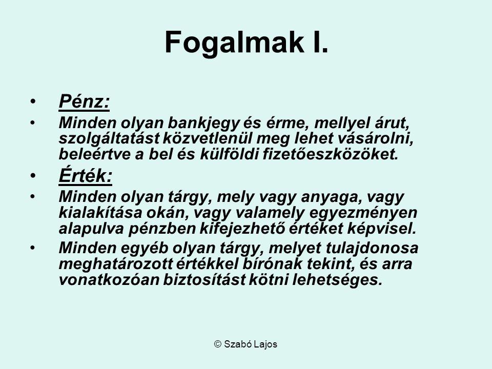 © Szabó Lajos Fogalmak II.