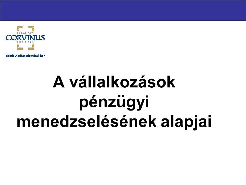 Alulfinanszírozottság Egy vállalkozás akkor alulfinanszírozott, ha nem áll rendelkezésre elegendő pénzforrás a kereslet maximális kielégítésére.