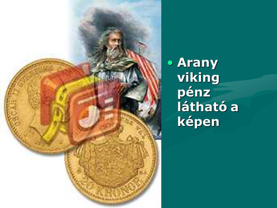 Arany viking pénz látható a képenArany viking pénz látható a képen