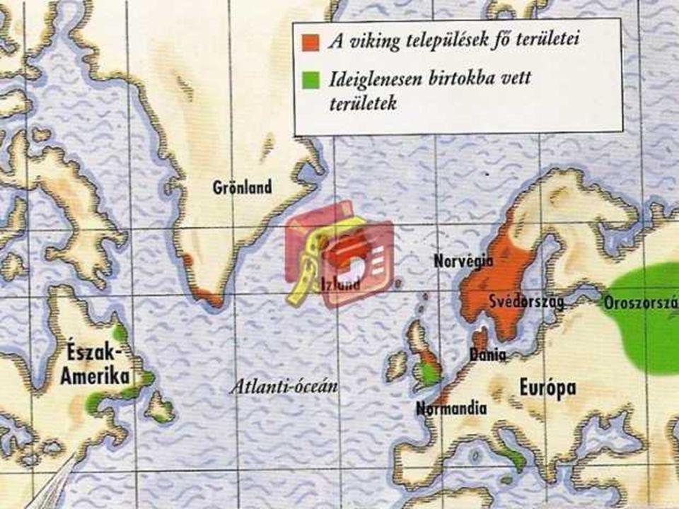  Bal oldalt egy vizbe fojtott viking megkövült maradványa látható, jobb oldalon egy viking harci sisakban.