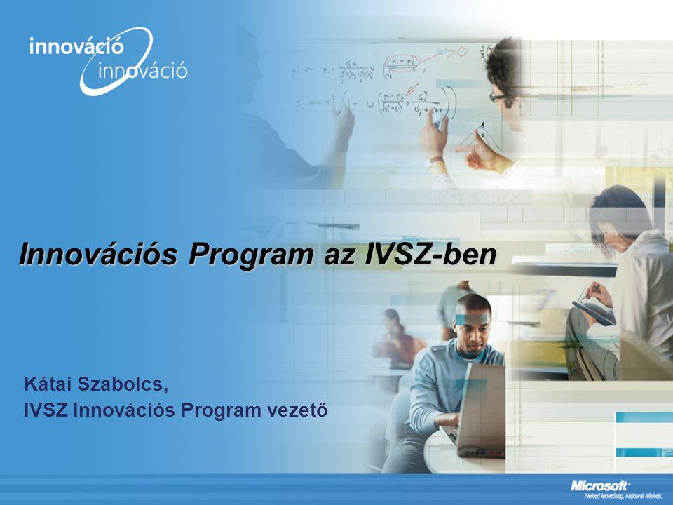 Innovációs Program az IVSZ-ben Kátai Szabolcs, IVSZ Innovációs Program vezető